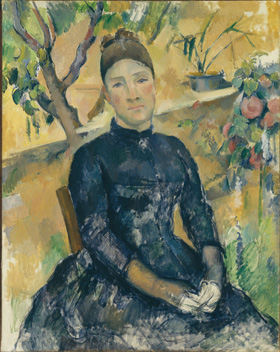 Paul Cezanne's Madame Cezanne in the Conservatory (Metropolitan Museum of Art, 1891)