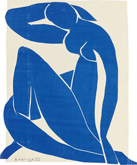 Henri Matisse's Blue Nude (Musee National d'Art Moderne, Pompidou Center, 1952)
