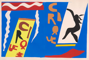 Henri Matisse's Cirque (from Jazz) (photo by Graham S. Haber, Frances and Michael Baylson Collection/ARS, 1947)