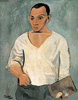 Picasso's Self-Portrait with Palette (Philadelphia Museum of Art, 1906)