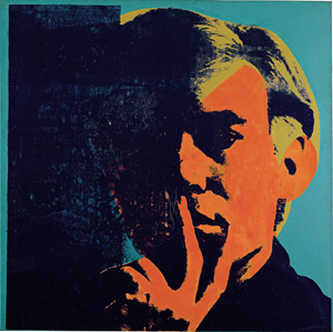 Andy Warhol's Self-Portrait (photo by Andy Warhol Foundation/ARS, Detroit Institute of Arts, 1967)